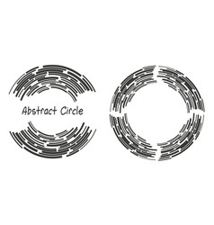 abstract background logo circles with lines vector image vector image