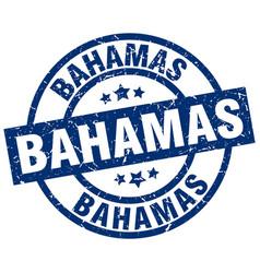 Bahamas blue round grunge stamp vector