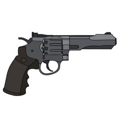Big heavy revolver vector