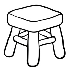 black and white chair vector image vector image