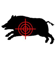 Boar crosslines vector image