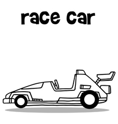 Collection transport of race car vector