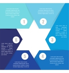 David Star design template and infographics vector image vector image