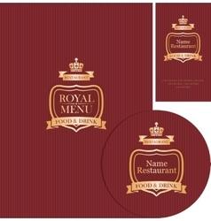 design elements for cafe or restaurant vector image vector image