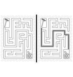 Easy autumn maze vector image