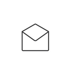 email open envelope icon line style vector image