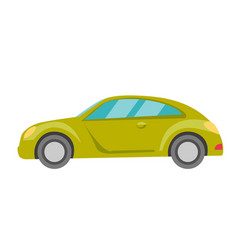 Green car cartoon vector