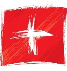 Grunge switzerland flag vector
