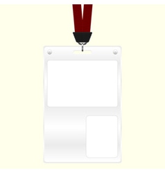 ID badge vector image