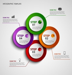 Info graphic with colored design circles elements vector