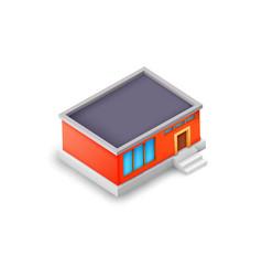Isometric industrial building model concept vector