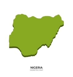 Isometric map of nigeria detailed vector