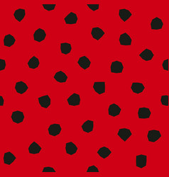 Ladybug pattern with angular spots seamless vector