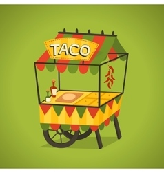 Mexican street food concept vector