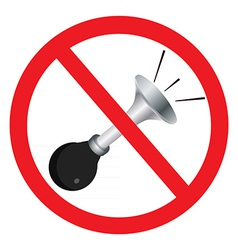 No sound sign vector image vector image