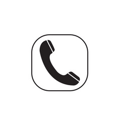 Phone call solid icon incoming and vintage vector