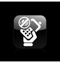phone mute icon vector image vector image