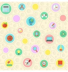 School pattern vector image