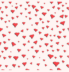 seamless pattern for valentines day cute hearts vector image vector image