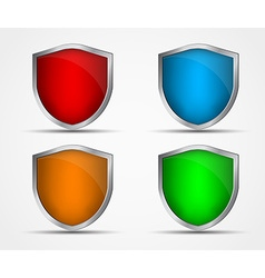 Set of icons of different colors and shapes of vector image