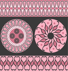 Style scroll background pattern vector image vector image