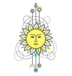 sun modern symbol vector image