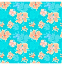 Ornate floral endless pattern vector