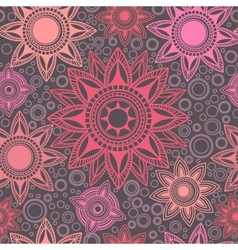 Abstract seamless pattern with round elements vector image