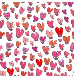 Cute seamless pattern from pink repeating vector