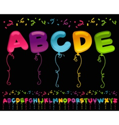 Party balloons alphabet vector