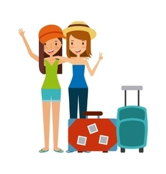 Trip and vacations design vector