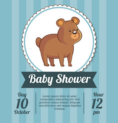Baby shower card invitation save date with cute vector
