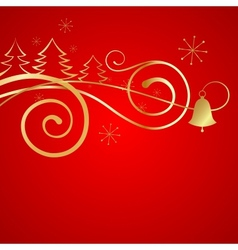Red christmas banner vector
