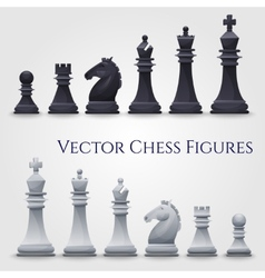 Chess figures vector