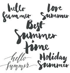 Set labels summer vector