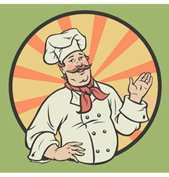 Chef in a retro style vector