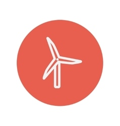 Windmill thin line icon vector
