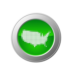 Map of usa button vector