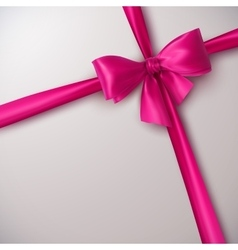 Pink bow and ribbon vector