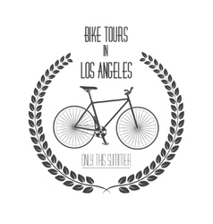 Bicycle tours label Vintage vector image