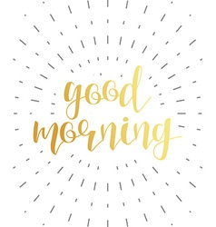 Good morning calligraphy phrase quote calligraphy vector