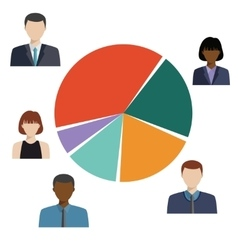 Pie diagram demographic statistic information vector