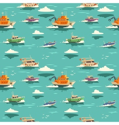Seamless pattern with ships vector image