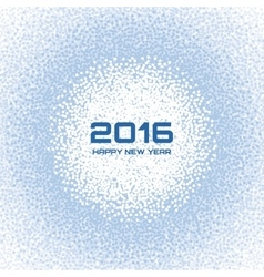 Blue - white light new year 2016 snow flake vector
