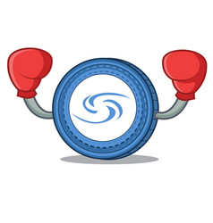 Boxing syscoin character cartoon style vector