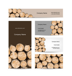Business cards design stack of wood vector