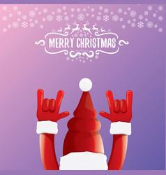 Cartoon rock n roll santa claus with vector