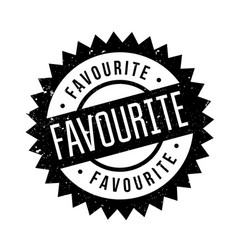Favourite rubber stamp vector