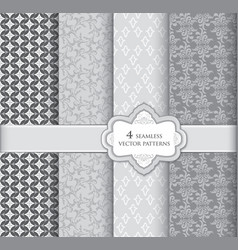 floral pattern set geometric fabric seamless vector image