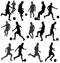 football silhouette vector image